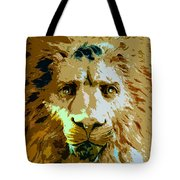 Face Of The Lion Tote Bag