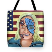 Face Paint And Freedom Tote Bag