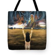 Face The Dragon Tote Bag