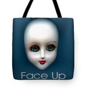 Face Up Tote Bag
