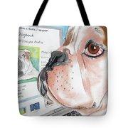Facebook Dog Tote Bag