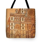 Faced Of Florence Cathedral  Tote Bag