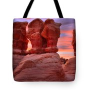Faces And Fire Tote Bag