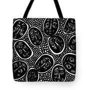 Faces In Stone Tote Bag