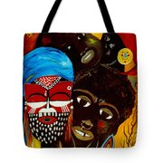Faces Of Africa Tote Bag