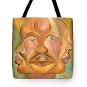 Faces Of Copulation Tote Bag by Ikahl Beckford