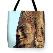 Faces Of The Bayon Temple - Siem Reap, Cambodia Tote Bag