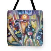Facial Expression Colorful Tote Bag