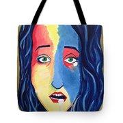 Facial Or Woman With Green Eyes Tote Bag