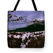 Facinating American Landscape   Snow Mountains Mini Lakes Winter Storms Welcome Trips To Nature Tote Bag