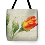 Faded Floral 9 Tote Bag