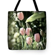 Faded Tulips Tote Bag