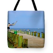 Fairhope Fisherman With Cast Net Tote Bag
