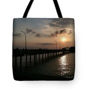 Fairhope Pier At Dusk Tote Bag