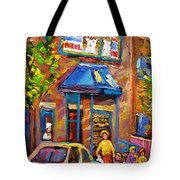 Fairmount Bagel Fairmount Street Montreal Tote Bag