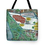 Fairmount Neighborhood Map Tote Bag