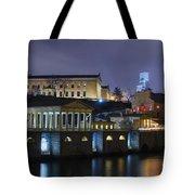 Fairmount Waterworks And Art Museum At Night Tote Bag