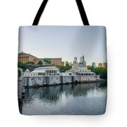 Fairmount Waterworks And Philadelphia Art Museum In The Morning Tote Bag