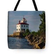 Fairport Harbor Lighthouse Panoramic Tote Bag