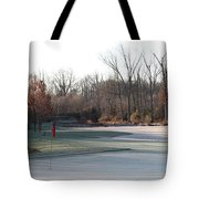 Fairway Hills - 7th - Beware Of The Tree And The Pond Panorama Tote Bag