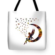 Fairy And Stars Tote Bag by Michael Colgate