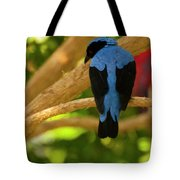 Fairy Bluebird Male Digital Oil  Tote Bag