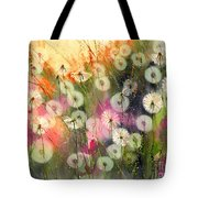 Fairy Dandelions Fields Tote Bag