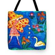 Fairy Feeding Swan Tote Bag