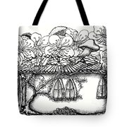 Fairy Hacienda With Floral Roof Tote Bag