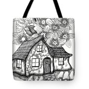 Fairy House, Bee, And Dogwood Tote Bag