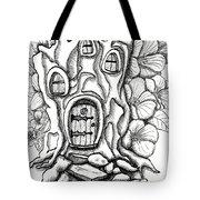 Fairy House Stump And Hibiscus Tote Bag