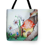Fairy Mushrooms Tote Bag