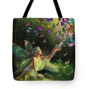 Fairy Of The Butterflies Tote Bag
