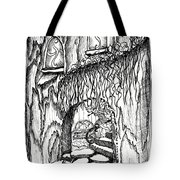 Fairy On Stairs Tree Fairy Home Tote Bag