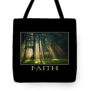 Faith Inspirational Motivational Poster Art Tote Bag by Christina Rollo