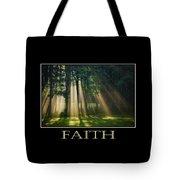 Faith Inspirational Motivational Poster Art Tote Bag