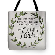Faith Laurel Wreath Tote Bag