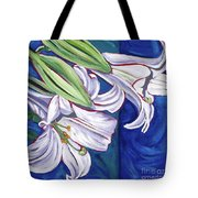 Faith Lily Two Tote Bag