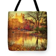 Fall Afternoon In Central Park Tote Bag