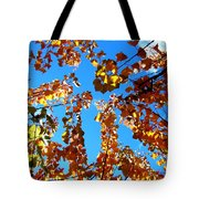 Fall Apricot Leaves Tote Bag