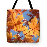 Fall Art Orange Autumn Leaves Blue Sky Baslee Troutman Tote Bag