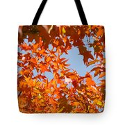 Fall Art Prints Orange Autumn Leaves Baslee Troutman Tote Bag