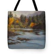 Fall At Colliding Rivers Tote Bag