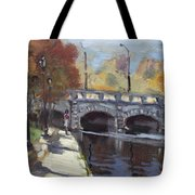 Fall At Delaware Park Buffalo Tote Bag