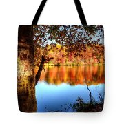 Fall At Lake Tote Bag