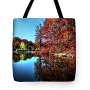Fall At The Crosspointe Lake Tote Bag