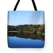Fall At The Riverbend Panoramic Tote Bag