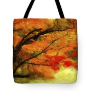 Fall At The Temple Tote Bag