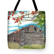 Fall Barn Tote Bag