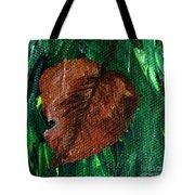 Fall Brown Leaf Tote Bag